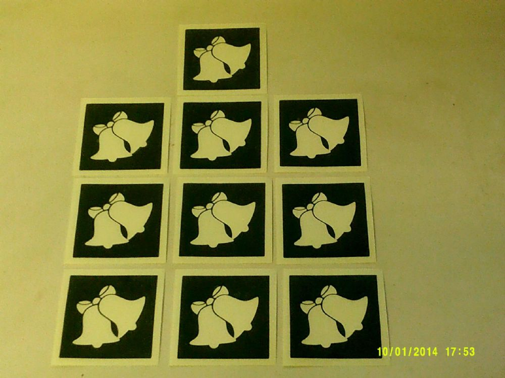 Christmas Bell Stencils For Etching On To Glass Present